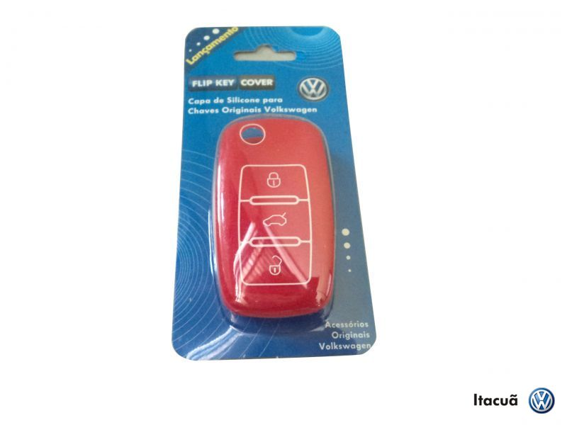 CAPA SILICONE CHAVE CANIVETE(VERM.)VW